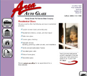 Web Design Image links to Area Auto Glass site