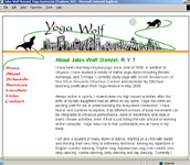 Site image - links to design for yoga site in Madison, WI