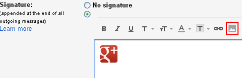 how to put an image as signature in gmail