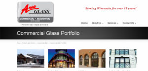 Responsive site for Glass company
