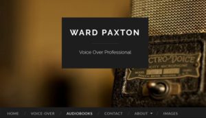 Screenshot of Ward Paxton's wordpress.com site has his name and a microphone