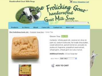 Frolicking Goat Handcrafted Soap