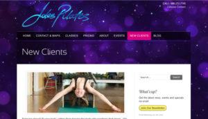 Jules Wolf's new website for Pilates Studio