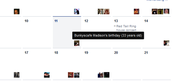 How to see past and present birthdays in Facebook