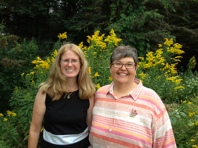Vet Katie Hilst with Web Designer Deb Vandenbroucke at one of the many events Katie speaks at
