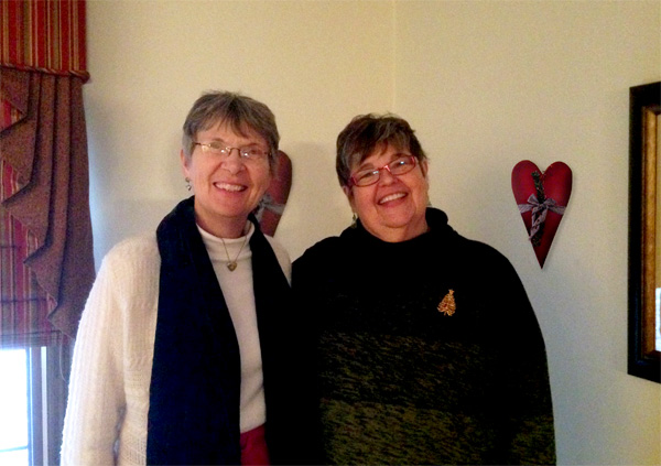 Deb Vandenbroucke, web designer with site owner Suzanne Kilkus, Heartspace Coaching