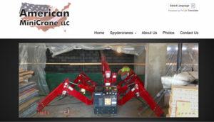Website for spider crane rental in Chicago