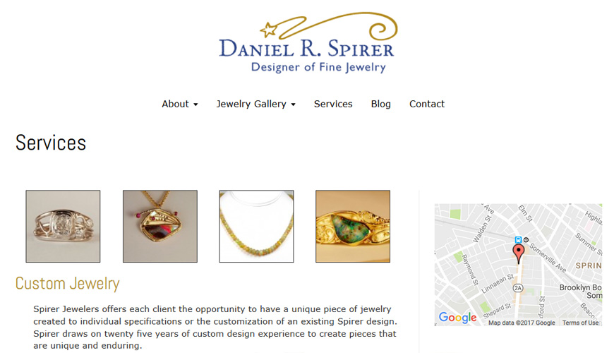 Screenshot of WordPress website based on html design