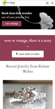 jewelry portfolio site - wordpress screenshot