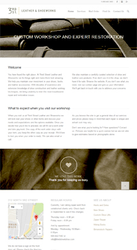 Screenshot of WordPress landing page