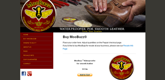Website for a Product – MooBuzz®