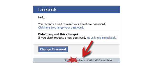 Another example – Facebook Phishing