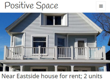 Website screenshot - rental property