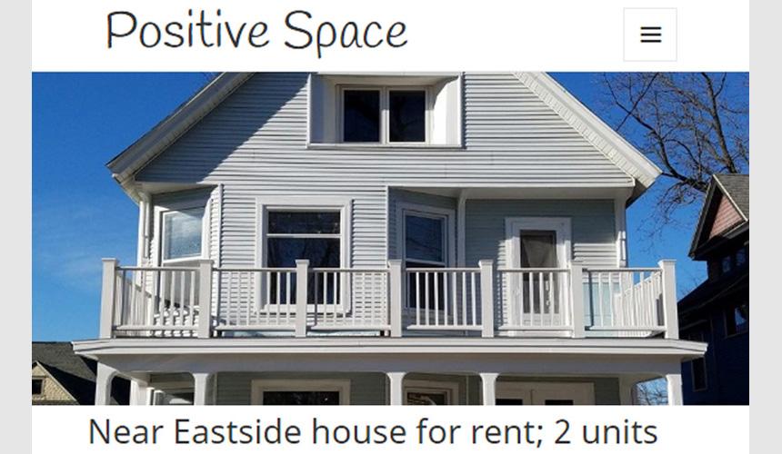 Website screenshot - rental property