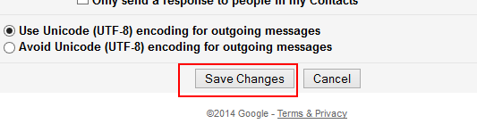 gmail setting save button