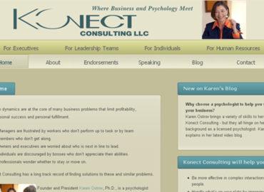 screenshot of old site