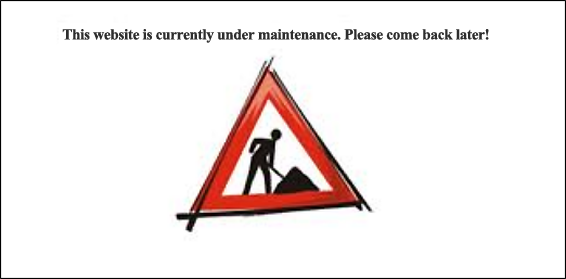 This site is currently under maintenance. Please try again later.