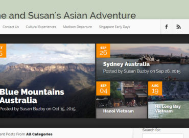 Screenshot of Susan Buzby's blog - RTW