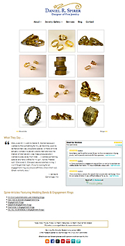 Screenshot of Jewelery Website