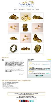 Screenshot of Jewelery Website