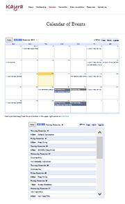 Kayra group uses Google calendar for their social events