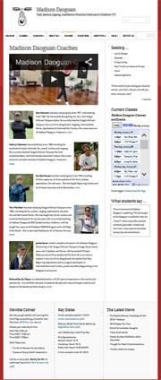 Screen image links to taiji web site WordPress web design