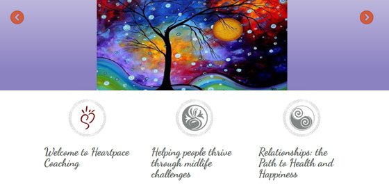 Heartspace Coaching ~ Website for Therapist