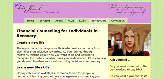 Financial counselor html website