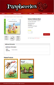 Screenshot of shopping cart site - buy funny greeting cards wholesale