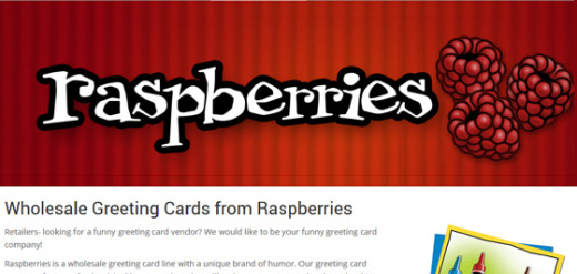 Raspberries Greeting Cards ~ Wholesale eCommerce