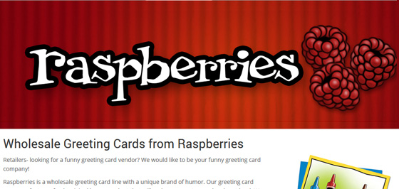 Raspberries Greeting Cards ~ Wholesale eCommerce