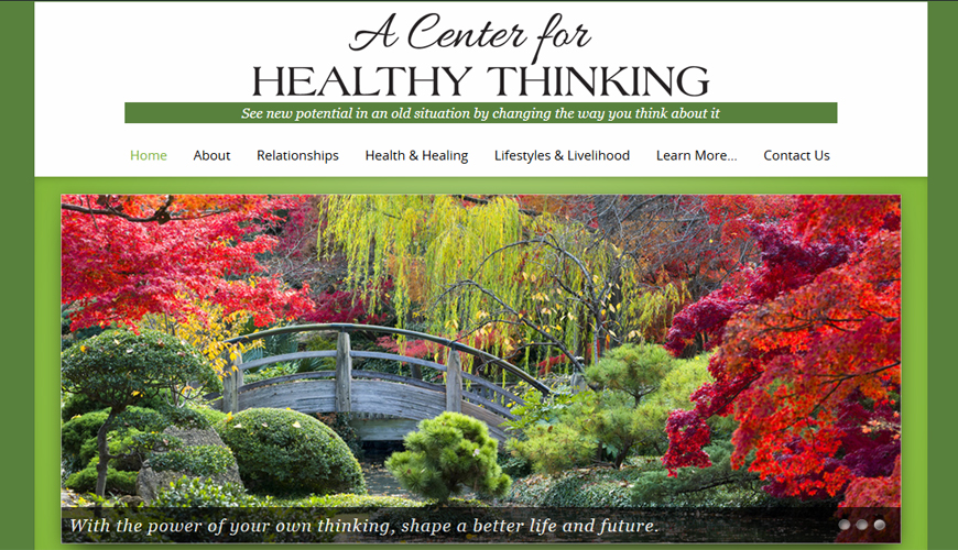 Screenshot of website header which is really pretty brought to you by Striking. Fall colors in the slideshow.