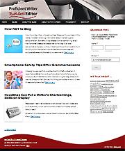 Screenshot of Ruthless Editor blog made with WordPress